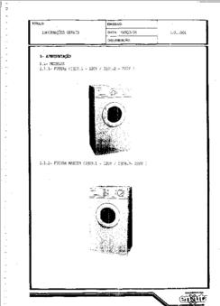 Diagrama/Manual enxuta master futura Lavadora Enxuta